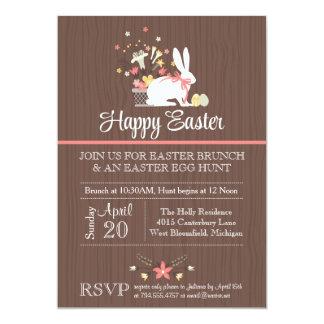 La invitación de Pascua, caza del huevo de Pascua