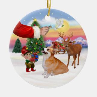 La invitación de Santa - Corgi Galés Pembroke Ornamentos De Reyes Magos