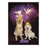 La invitación del Año Nuevo de la persona del perr