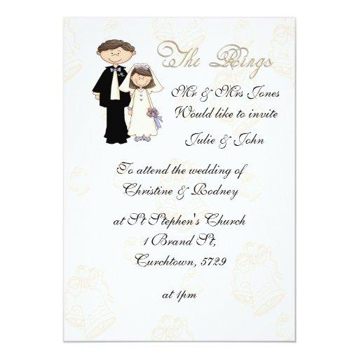 La invitación del boda de la recepción