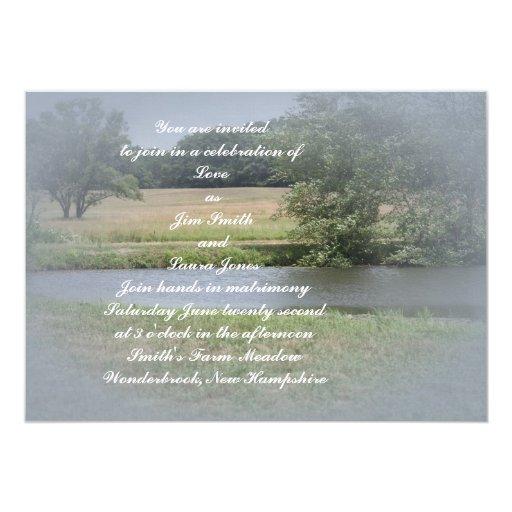 La invitación del boda del prado del verano