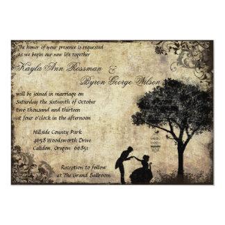 La invitación del boda del vintage de la oferta en