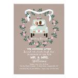 La invitación del brunch del boda del poste de los
