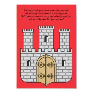 La invitación del castillo invitación 12,7 x 17,8 cm