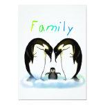 La invitación del chica de la familia del pingüino