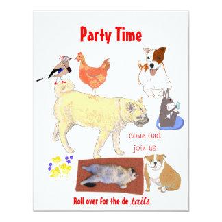 La invitación del fiesta añade los detalles