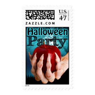 La invitación del fiesta de Halloween sella el Timbres Postales