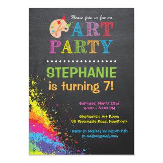 La invitación del fiesta del arte/el fiesta del