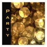 La invitación del fiesta empluma burbujas negras d