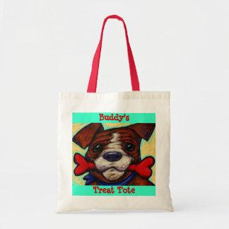 La invitación del perro del nombre de mascota bolsas de mano
