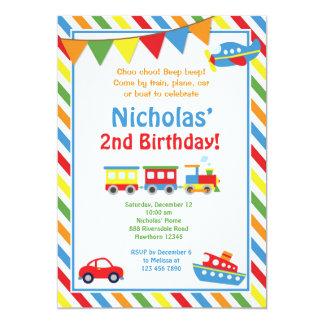 La invitación del transporte/el cumpleaños del