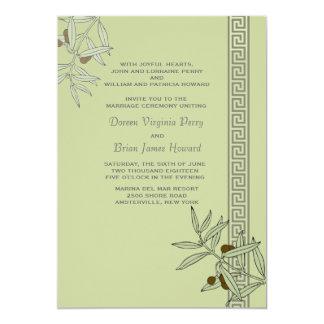 La invitación egea del boda