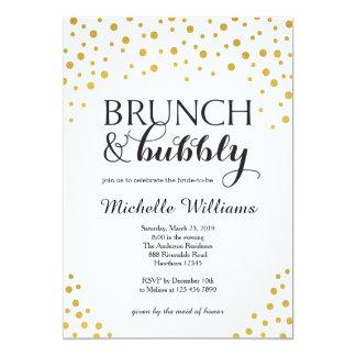 """La invitación/el brunch y burbujeantes nupciales invitación 5"""" x 7"""""""