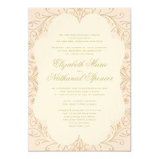 La invitación enorme del boda del Flourish se