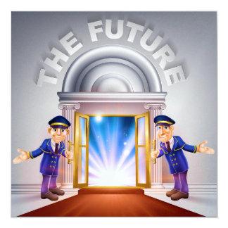 La invitación FUTURA de la graduación/del negocio