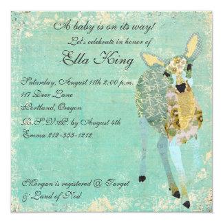 La invitación más estimada del bebé de los ciervos
