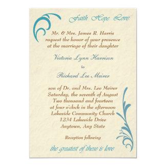 La invitación más grande del boda del trullo del invitación 12,7 x 17,8 cm