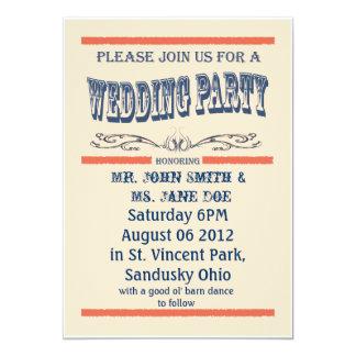 la invitación más oldwest del boda del país del