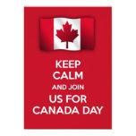 La invitación patriótica del día de Canadá guarda Invitación 12,7 X 17,8 Cm
