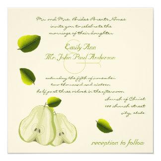 La invitación perfecta del boda de la pera