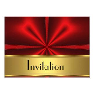 La invitación roja cualquiera del oro va de fiesta
