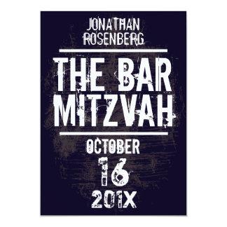 La invitación toda de Mitzvah de la barra de la