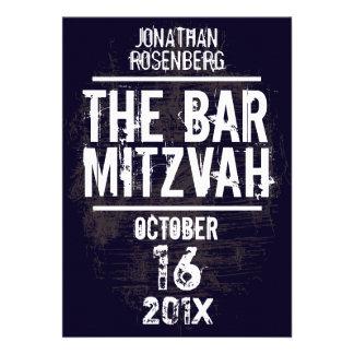 La invitación toda de Mitzvah de la barra de la ba