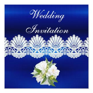 La invitación toda ocasiona el cordón blanco azul