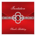 La invitación toda ocasiona la joya de plata roja