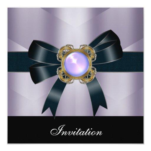 La invitación toda ocasiona la joya de seda negra