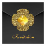 La invitación toda ocasiona la joya negra elegante