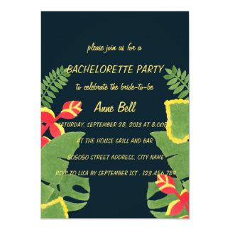 La invitación tropical del fiesta de Bachelorette