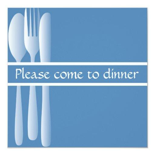 La invitación viene por favor a la cena