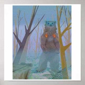 La invocación del oso póster