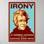 La ironía es Jackson en un poster central del bill