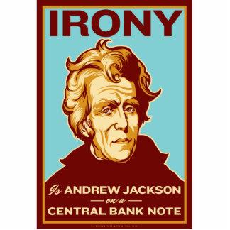 La ironía es Jackson en una escultura del escritor Fotoescultura Vertical