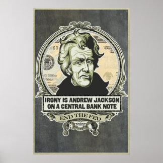 La ironía es Jackson en una impresión central del Poster