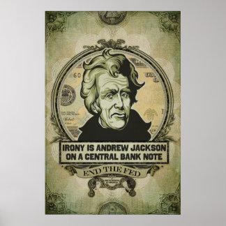 La ironía es Jackson en una impresión central del Posters
