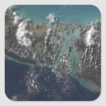 La isla 2 de Andros de las Bahamas Pegatina Cuadrada