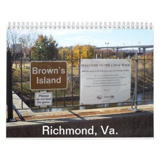 La isla de Brown calendario de 12 meses