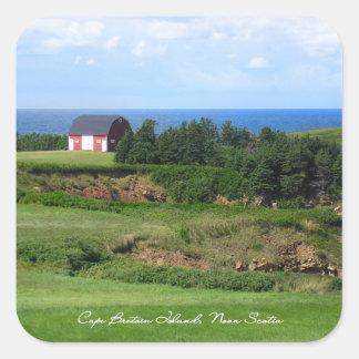 La Isla de Cabo Bretón, Nueva Escocia Calcomanías Cuadradas Personalizadas