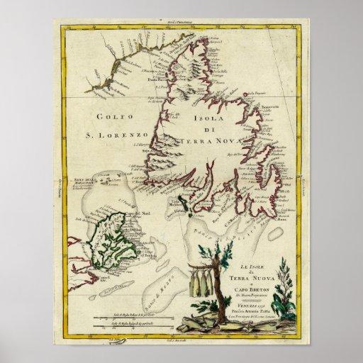 La Isla de Cabo Bretón, Terranova Póster