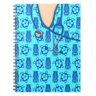 La isla de Honu Tiki médica friega Spiral Notebooks