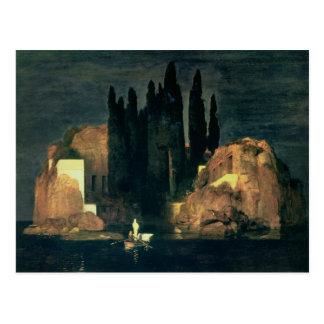 La isla de los muertos, 1880 (aceite en lona) postales