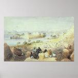 La isla de Philae, mirando rio abajo el Nilo Impresiones