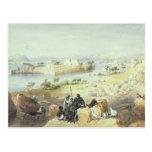 La isla de Philae, mirando rio abajo el Nilo Tarjetas Postales