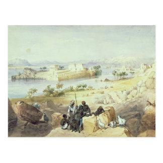 La isla de Philae, mirando rio abajo el Nilo Tarjeta Postal