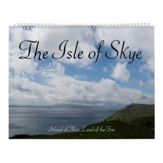La isla de Skye: Isla de la niebla, tierra del Fae Calendario De Pared