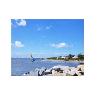 La isla de Sullivan, Carolina del Sur Impresión En Lienzo