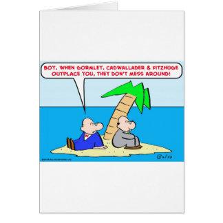 la isla del desierto externaliza lío tarjeta de felicitación